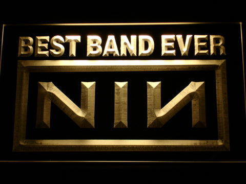 Nine Inch Nails Best Band Ever LED Neon Sign - Yellow - SafeSpecial