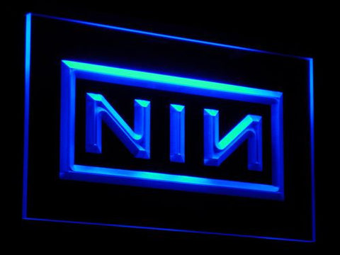 Nine Inch Nails LED Neon Sign - Blue - SafeSpecial