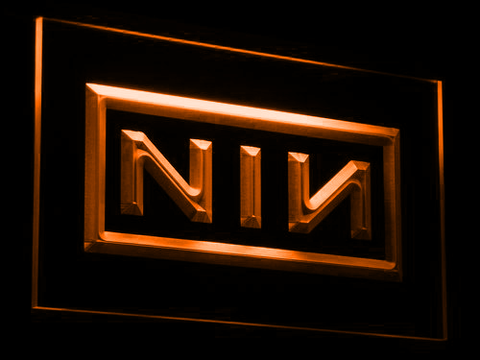 Nine Inch Nails LED Neon Sign - Orange - SafeSpecial