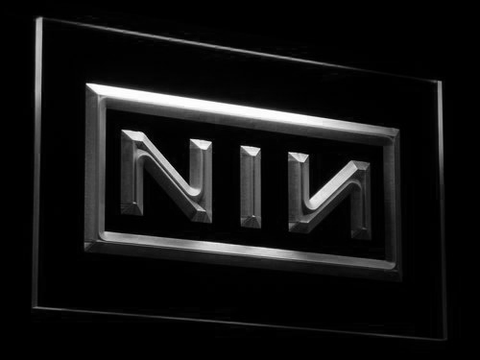 Nine Inch Nails LED Neon Sign - White - SafeSpecial