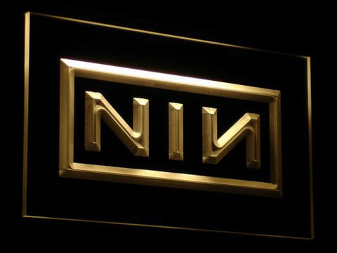 Nine Inch Nails LED Neon Sign - Yellow - SafeSpecial