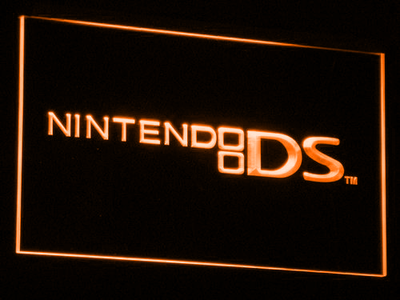 Nintendo DS LED Neon Sign - Orange - SafeSpecial