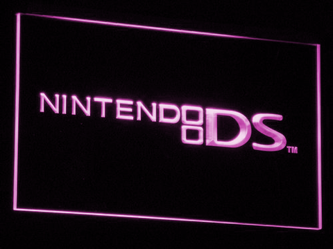 Image of Nintendo DS LED Neon Sign - Purple - SafeSpecial