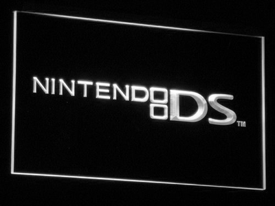 Nintendo DS LED Neon Sign - White - SafeSpecial