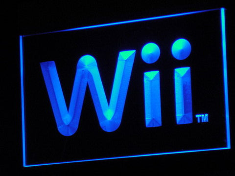 Image of Nintendo Wii LED Neon Sign - Blue - SafeSpecial