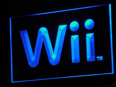 Nintendo Wii LED Neon Sign - Blue - SafeSpecial