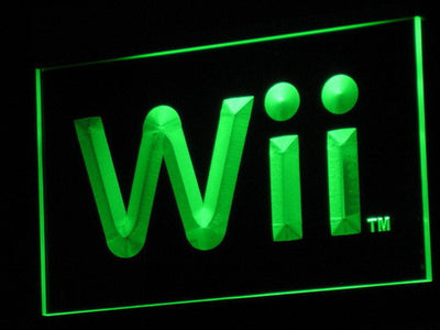 Nintendo Wii LED Neon Sign - Green - SafeSpecial