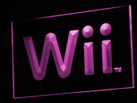 Image of Nintendo Wii LED Neon Sign - Purple - SafeSpecial