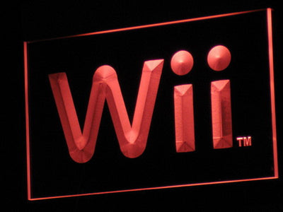 Nintendo Wii LED Neon Sign - Red - SafeSpecial