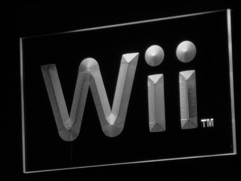 Image of Nintendo Wii LED Neon Sign - White - SafeSpecial