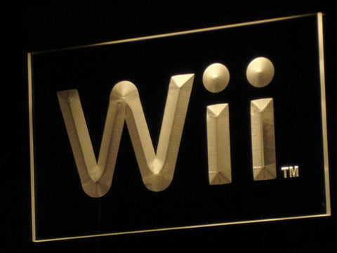 Image of Nintendo Wii LED Neon Sign - Yellow - SafeSpecial