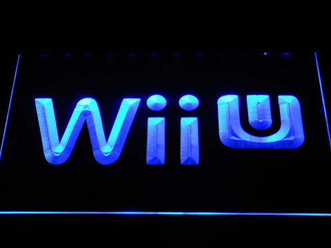 Image of Nintendo Wii U LED Neon Sign - Blue - SafeSpecial