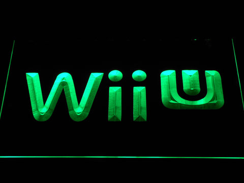 Image of Nintendo Wii U LED Neon Sign - Green - SafeSpecial