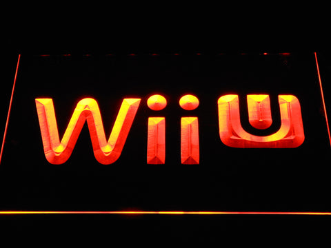 Image of Nintendo Wii U LED Neon Sign - Orange - SafeSpecial