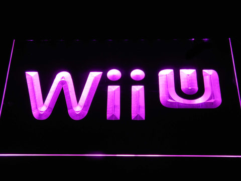 Image of Nintendo Wii U LED Neon Sign - Purple - SafeSpecial