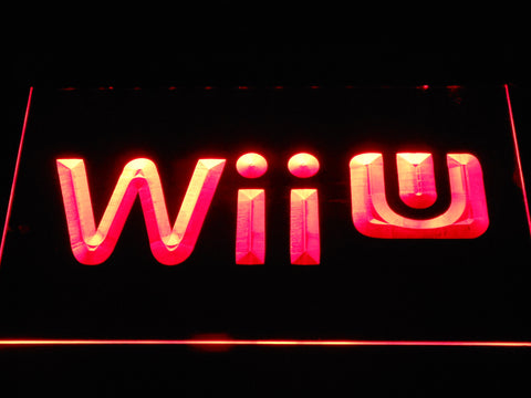 Image of Nintendo Wii U LED Neon Sign - Red - SafeSpecial