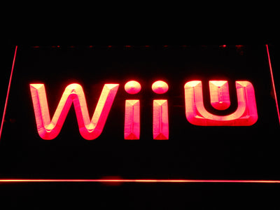 Nintendo Wii U LED Neon Sign - Red - SafeSpecial