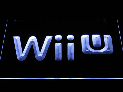 Image of Nintendo Wii U LED Neon Sign - White - SafeSpecial