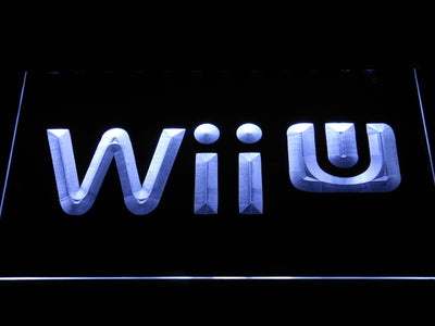 Nintendo Wii U LED Neon Sign - White - SafeSpecial