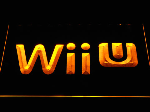 Image of Nintendo Wii U LED Neon Sign - Yellow - SafeSpecial
