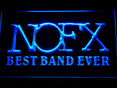 Image of NOFX Best Band Ever LED Neon Sign - Blue - SafeSpecial