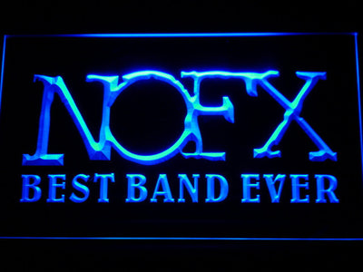 NOFX Best Band Ever LED Neon Sign - Blue - SafeSpecial