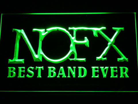 Image of NOFX Best Band Ever LED Neon Sign - Green - SafeSpecial