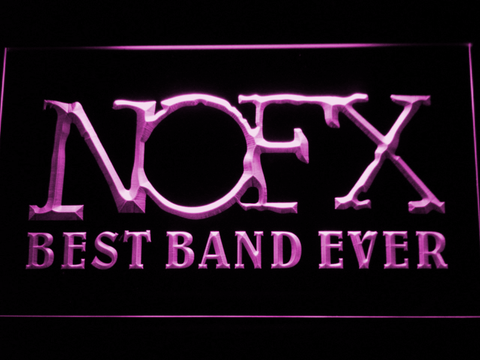 Image of NOFX Best Band Ever LED Neon Sign - Purple - SafeSpecial