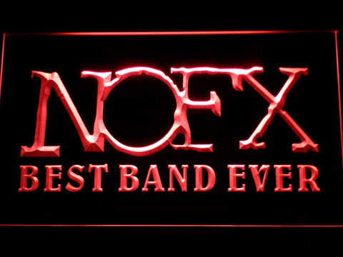 Image of NOFX Best Band Ever LED Neon Sign - Red - SafeSpecial