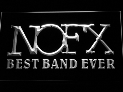 NOFX Best Band Ever LED Neon Sign - White - SafeSpecial