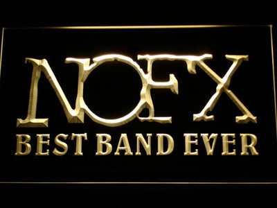 NOFX Best Band Ever LED Neon Sign - Yellow - SafeSpecial