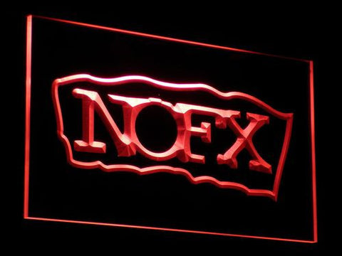 NOFX Border LED Neon Sign - Red - SafeSpecial