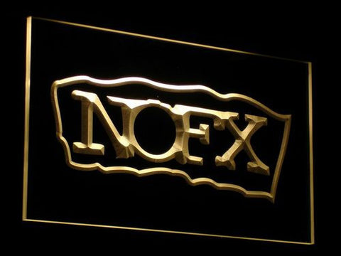 NOFX Border LED Neon Sign - Yellow - SafeSpecial