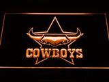 North Queensland Cowboys LED Neon Sign - Orange - SafeSpecial
