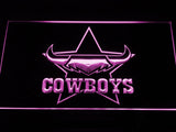 North Queensland Cowboys LED Neon Sign - Purple - SafeSpecial