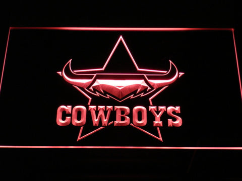 North Queensland Cowboys LED Neon Sign - Red - SafeSpecial
