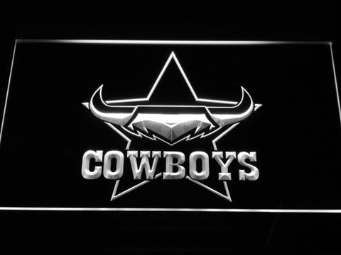 North Queensland Cowboys LED Neon Sign - White - SafeSpecial