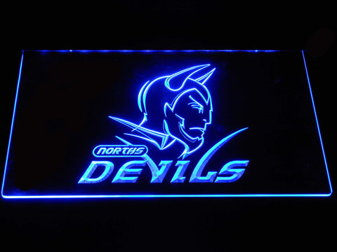 Norths Devils LED Neon Sign - Blue - SafeSpecial