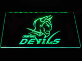 Norths Devils LED Neon Sign - Green - SafeSpecial