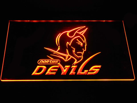 Norths Devils LED Neon Sign - Orange - SafeSpecial