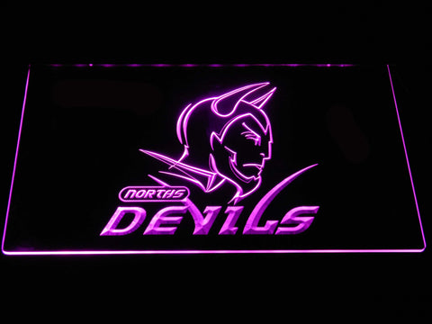 Norths Devils LED Neon Sign - Purple - SafeSpecial