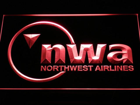 Northwest Airlines LED Neon Sign - Red - SafeSpecial