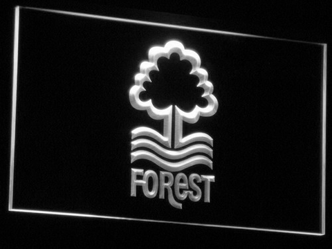 Nottingham Forest FC LED Neon Sign - White - SafeSpecial