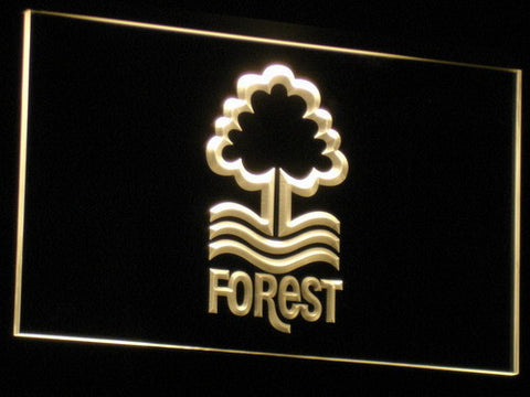 Nottingham Forest FC LED Neon Sign - Yellow - SafeSpecial