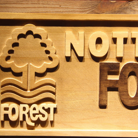 Image of Nottingham Forest FC Wooden Sign - - SafeSpecial