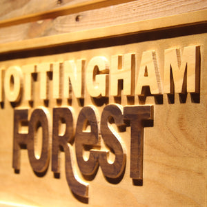 Nottingham Forest FC Wooden Sign - - SafeSpecial