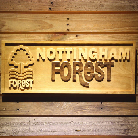 Image of Nottingham Forest FC Wooden Sign - Small - SafeSpecial