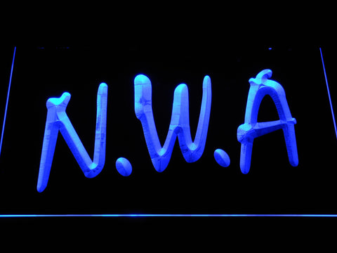Image of NWA LED Neon Sign - Blue - SafeSpecial