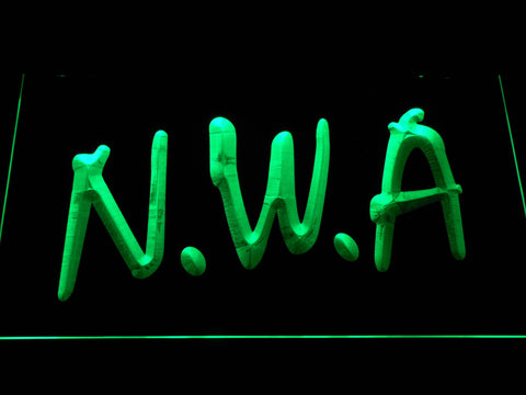 Image of NWA LED Neon Sign - Green - SafeSpecial