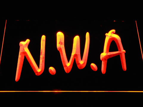 NWA LED Neon Sign - Orange - SafeSpecial